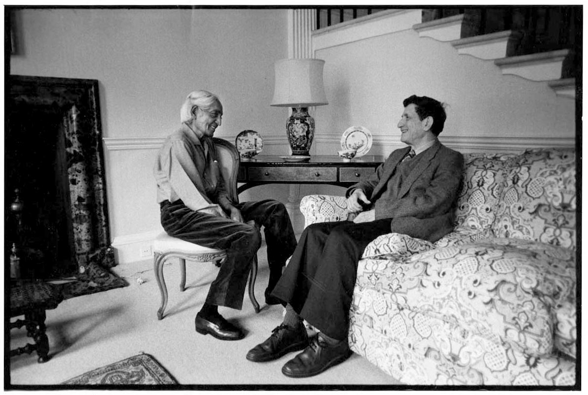 Friends of Brockwood Park David Bohm and Krishnamurti